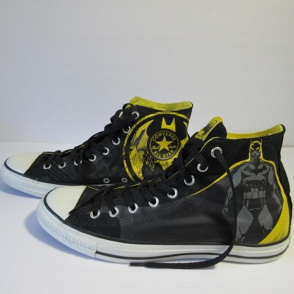 bc901adbe67ee2 Converse DC Comics Batman High Top Sneakers sz 10